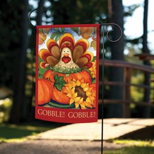 Garden flag with turkey design