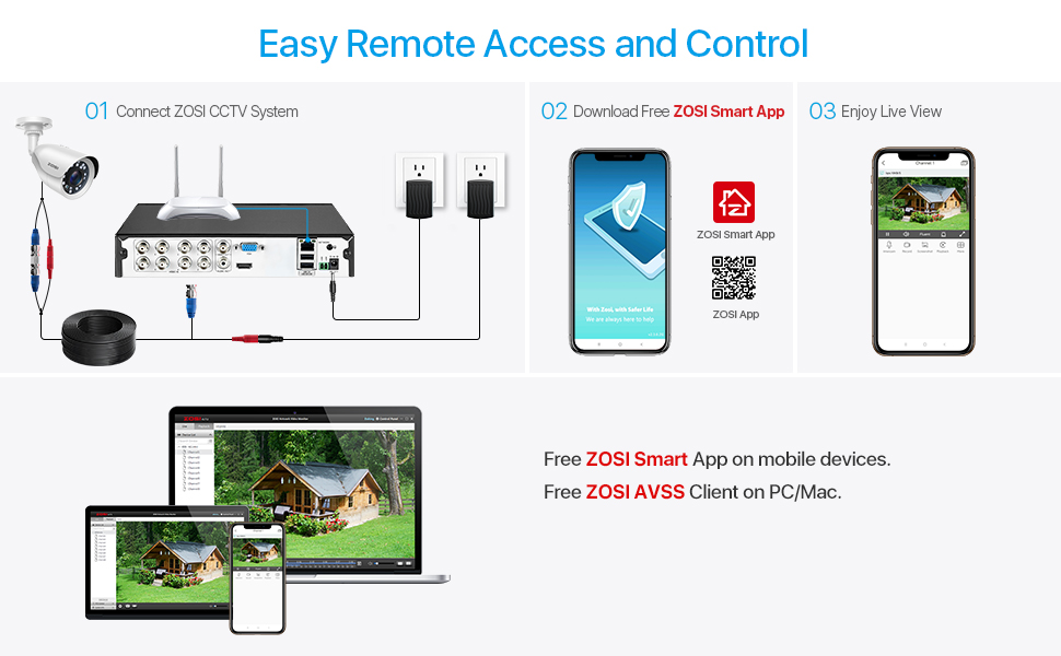 Connect ZOSI CCTV System