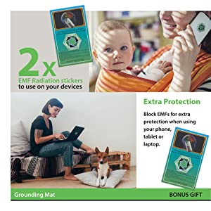 2 x EMF Radiation Stickers to use on your devices