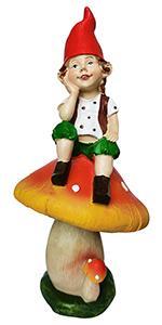 mushroom garden gnome statue