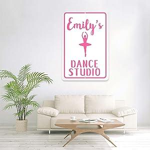 Personalized Ballet Dance Studio Sign