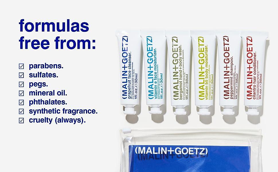 malin and goetz travel, travel kit, starter set, best sellers kit, toiletries kit, travel set