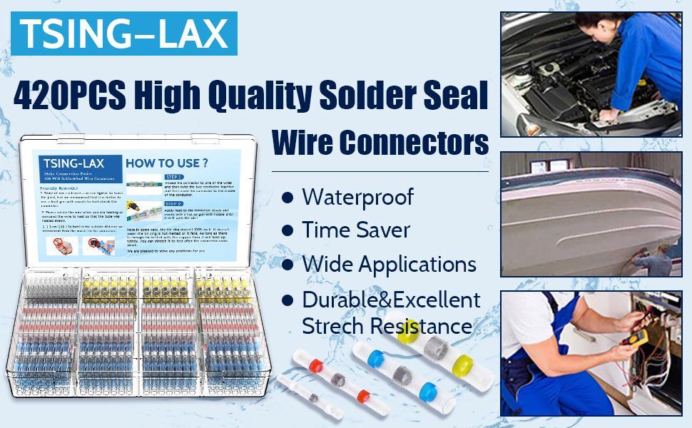 420PCS Solder Seal Wire Connectors