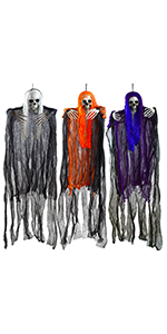 3 Pack Halloween Scary Hanging Grim Reaper