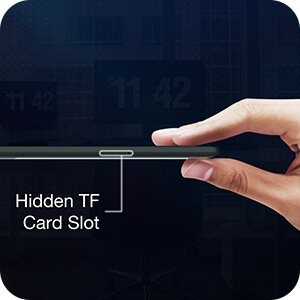 Hidden card slot with massive expansion