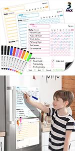 3 Pcs Dry Erase Behavior Charts