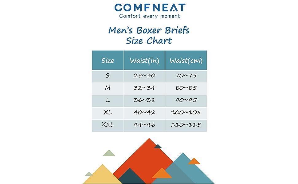 Boxer Briefs Size Chart