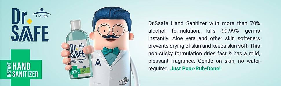 Hand Sanitizer Dr Saafe safe germs protection SPN-FOR1C