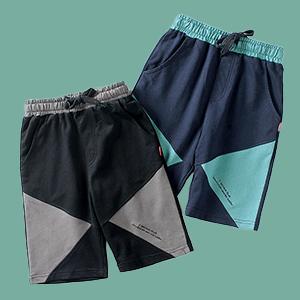 pantalones cortos negros, pantalones cortos azules