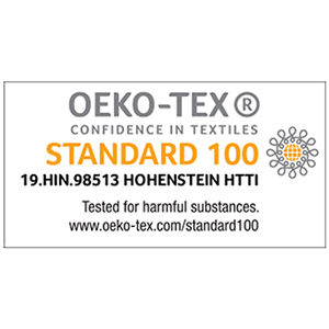 Oeko tex certificate for home textiles products and tested for harmful 100 chemicals