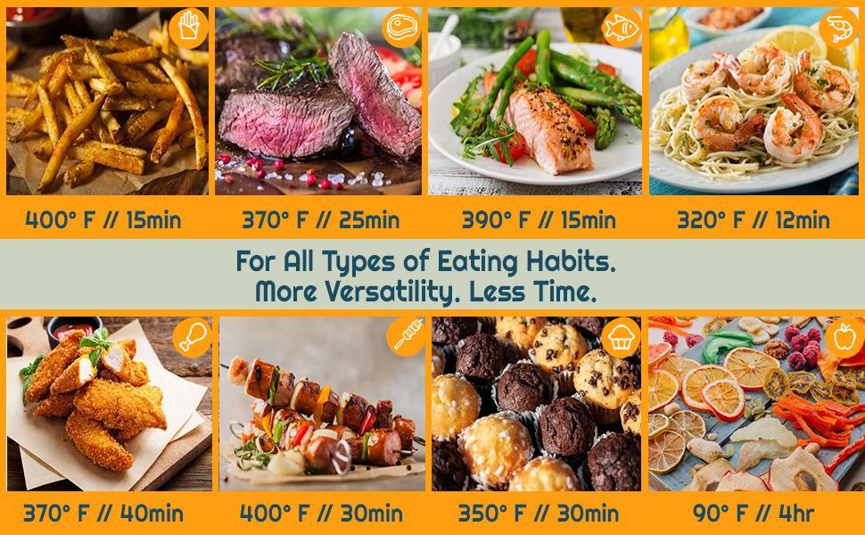 8 Cooking Preset Functions