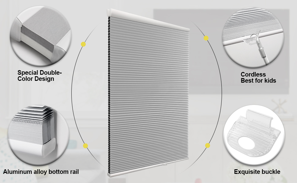 mini blinds 34 inch wide bottom up cordless window shades cellular