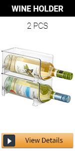Stackable Wine Storage Rack - 2pcs