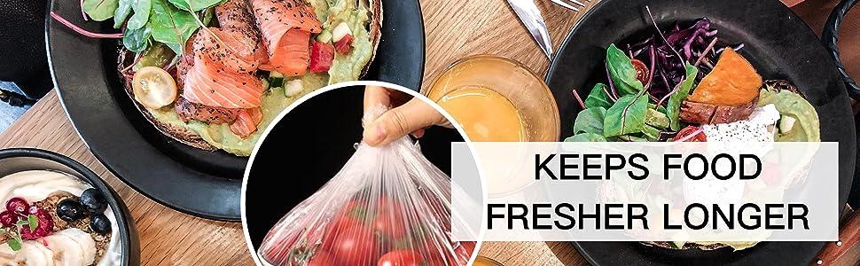 KEEPS FOOD FRESHER LONGER