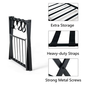wellfor metal suitcase luggage stand