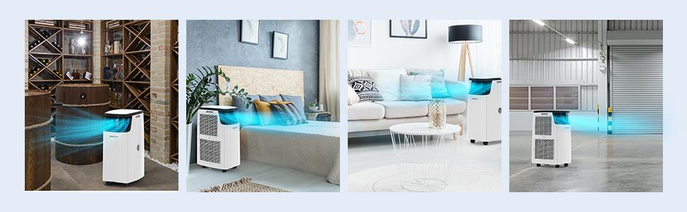 Portable Air Conditioner for Room Dehumidifier 14000BTU Portable Air Conditioning for Bedroom 8
