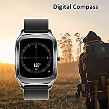 smart watch with compass