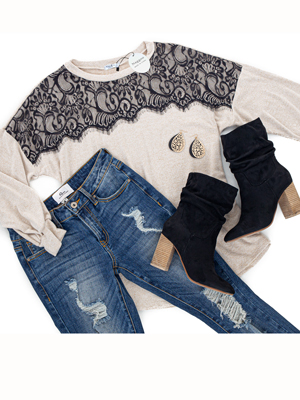 lace tunic tops