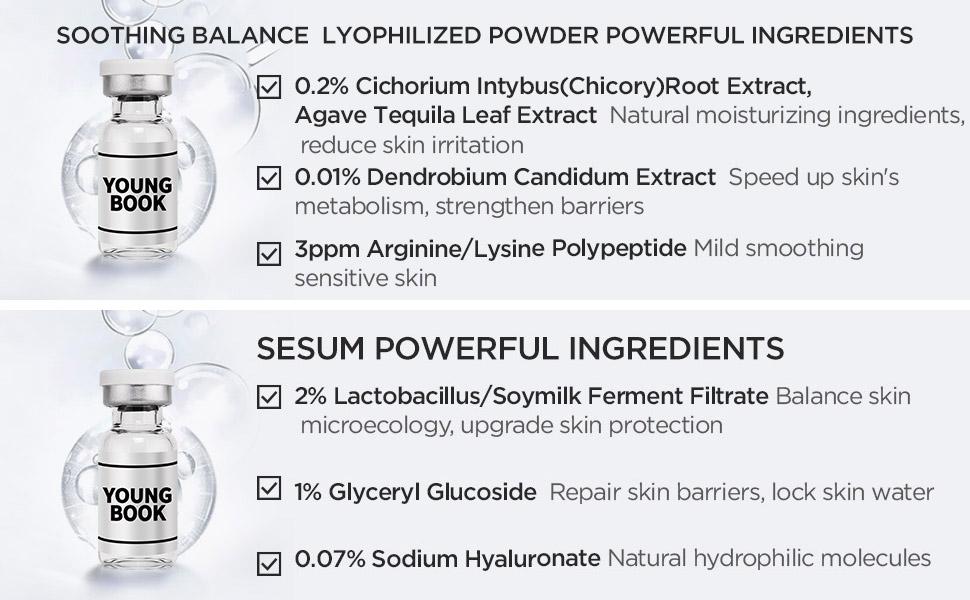 Soothing Balance Lyophilized Powder Serum Ingrdients