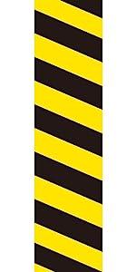 36 Ft Yellow Black Hazard Warning Bulletin Borders