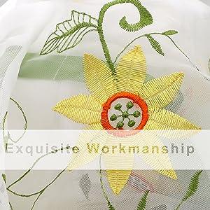 sunflower valances for kitchen windows
