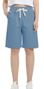 cargo short plus size short women' shorts elastic waist womens elastic shorts womens short pockets