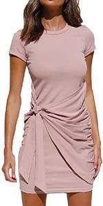 Summer Short Sleeve T Shirt Dress