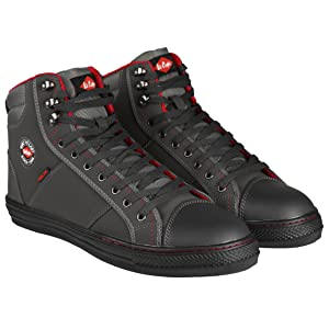 Lee Cooper Workwear LCSHOE022 SB/SRA Retro Safety Work Boot in Grey