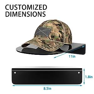 hat rack size
