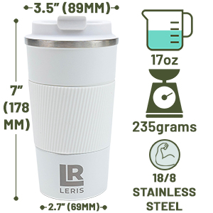 17oz, 235grams, 18/8 Stainless Steel, Gift Ready