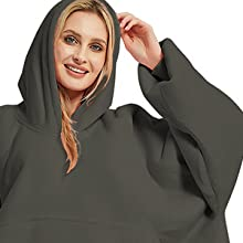 Oversized Hoodie Blanket Sweatshirt