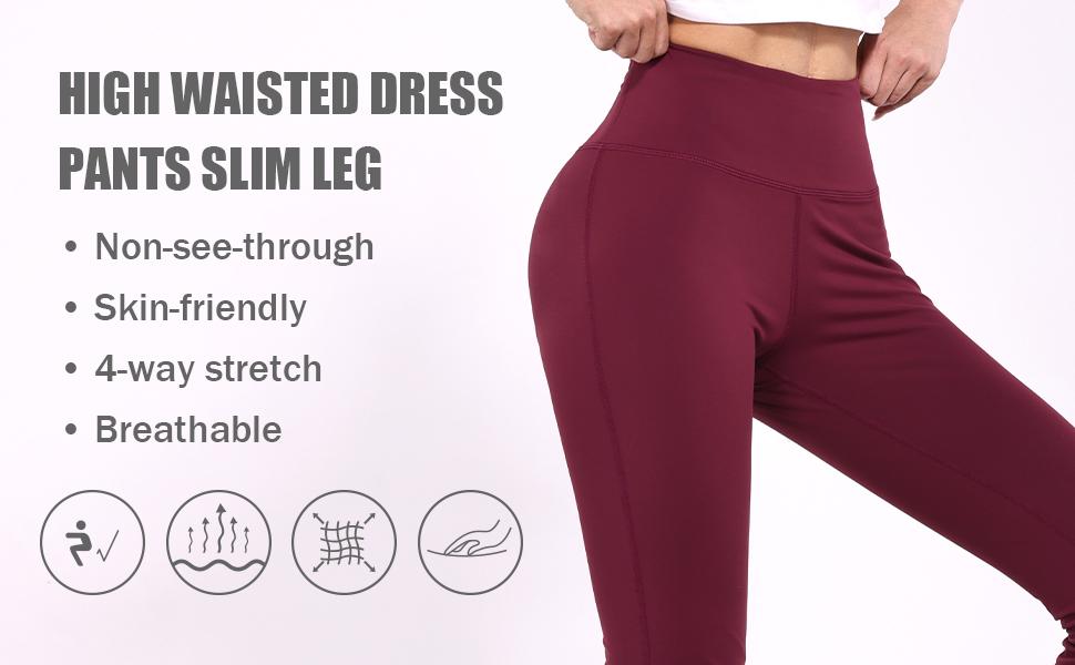 high waisted dress pants slim leg