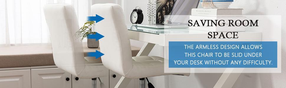 Armless Office Chair  saving space