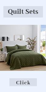 olive green quilt set