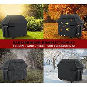 Barbecue cover, gas grill cover with grill brush, outdoor waterproof cover, BBQ cover