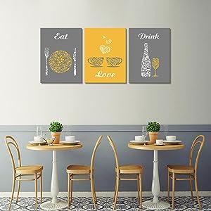 Restaurant wall decor