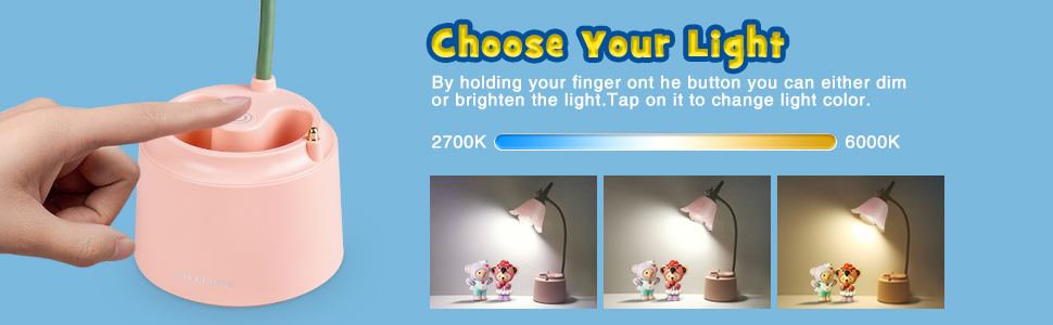 desk lamp dimmable rechargeable battery operated batterypowered