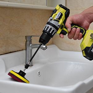 Drill Brush Attachments Set