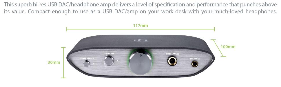 ZEN DAC V2 IFI AUDIO HEADPHONE AMPLIFIER DAC