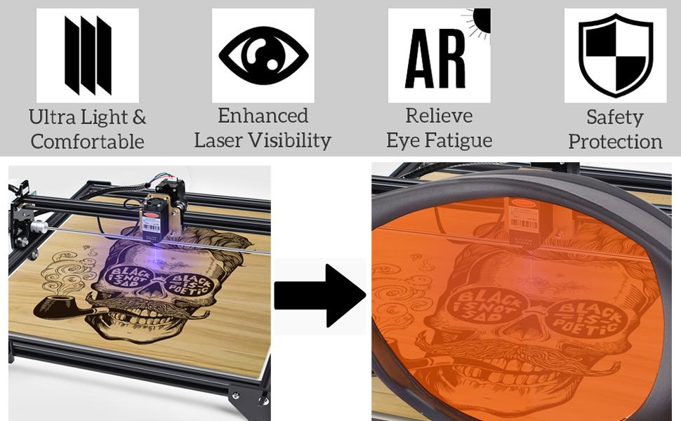 Safety laser glasses