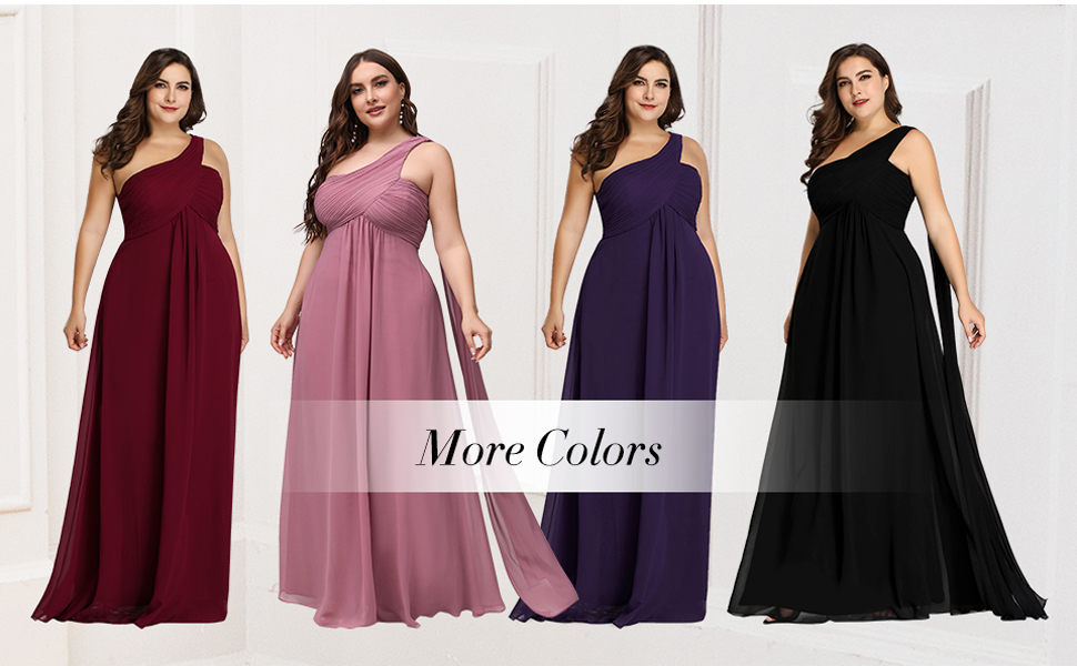 wedding guest dresses plus size formal dresses wedding party dresses evening gowns with one shoulder