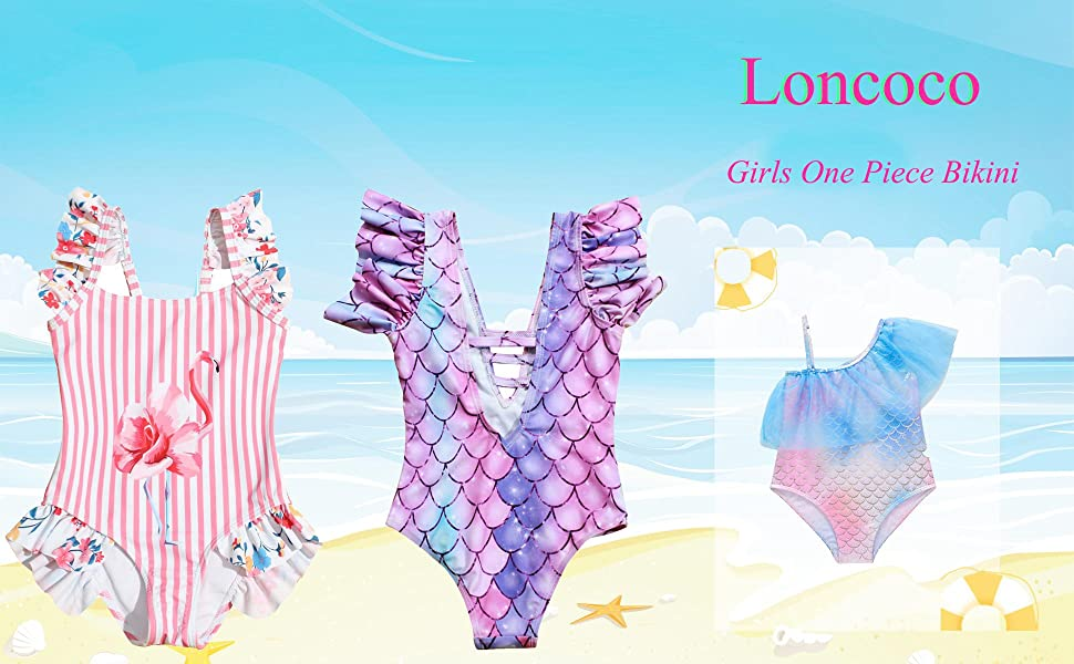 Girls One Piece Swimsuit