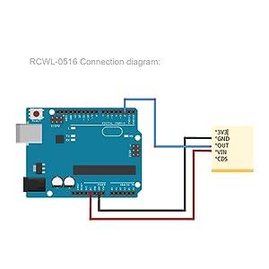 RCWL-0516 connection diagram