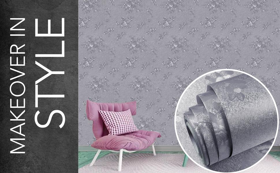 wall stickers wallpaper for wall, decals, DIY, textured, self-adhesive pink roses, home decorative