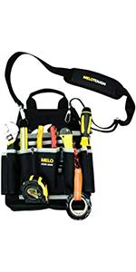 Professional Electric Tool Pouch Shoulder Tool Carrier with Multiple Pockets, Tool Organizer
