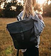 Gusti Rucksack Leder - Kieran Lederrucksack Cityrucksack Backpack Daypack diebstahlsicher Vintage...