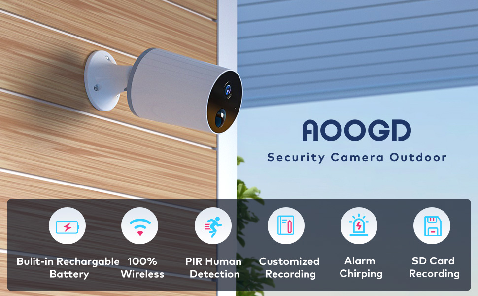 AOOGD securty camera outdoor