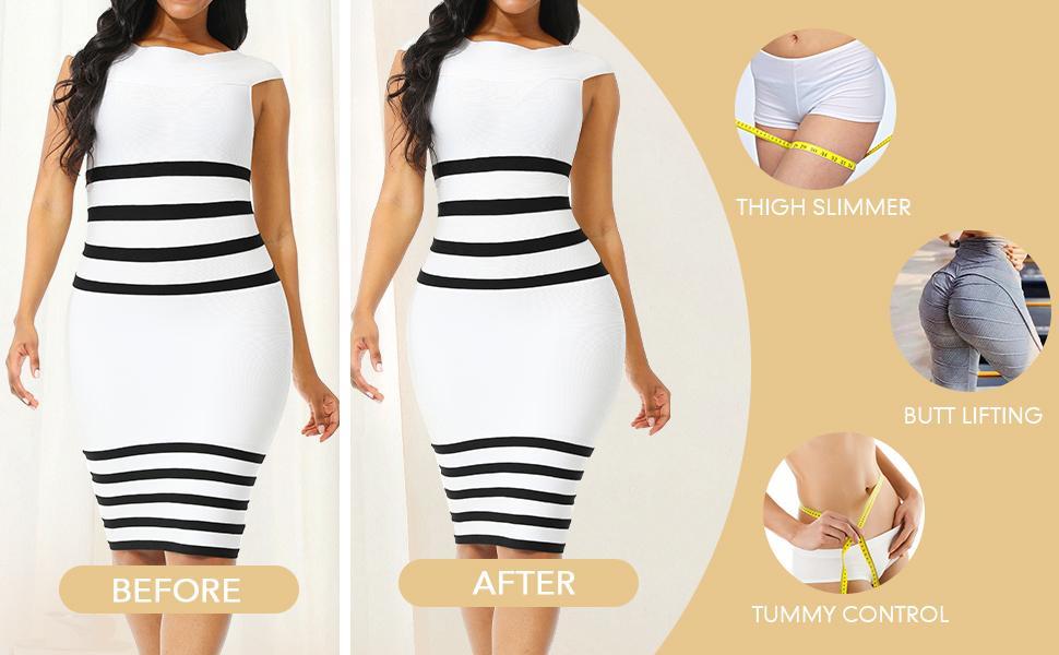 tummy control body shaper