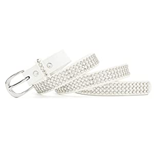 Stylish design with silver studs, round studs rivets covering belt's length