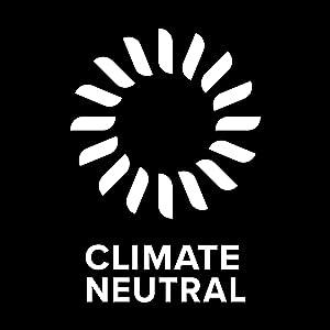 Climate Neutral partnership logo. Environmental partnership to offset carbon emissions